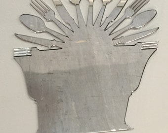 Decorative lasercut  perspex wall mirror