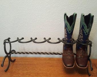 Colorado-Made Horseshoe Boot Rack