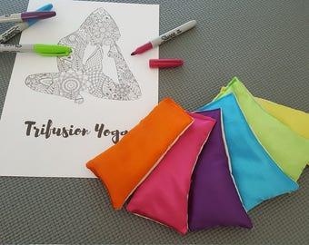 10 x Childrens Draw On Scented Yoga/Meditation Eye Pillows