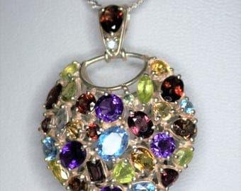 Pendentife Silver 925 set with semi precious stones
