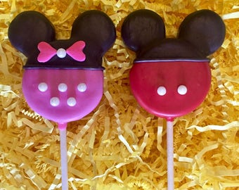 Minnie Mickey mouse Oreo cookie pops / birthday party favor / kids birthday / one dozen(12)