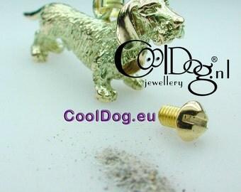 memorial Pendant - 3D Dog with Heartshape screw