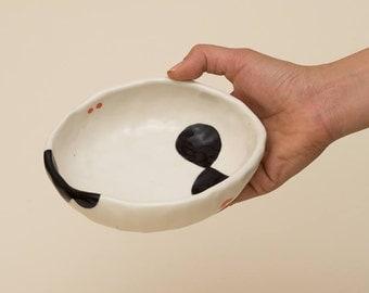 Pinched Porcelain Bowl
