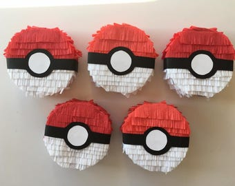 Pokemon Ball pre-filled Mini Piñata Party Favor