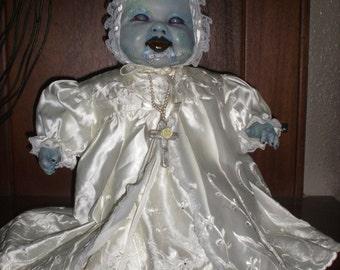 OOAK Horror Zombie,  Living / waling dead  baby doll