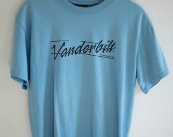 Vintage 1980's Vanderbilt University Casual College T-shirts