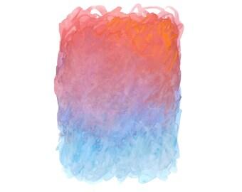 16 x 20 Print - COLOR #13 - Abstract Minimalist Watercolor Print