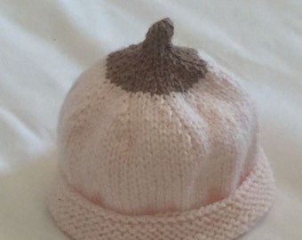 Exclusive hand-knitted boobie baby bonnet A