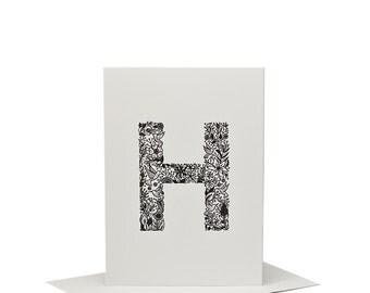 H for Hummingbird - Letterpress Print