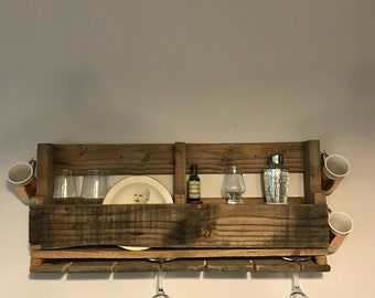 Wine rack pallet shelf