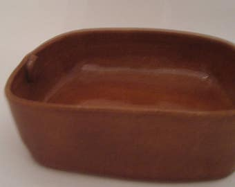 Hand Thrown and Altered Pottery Casserole Dish