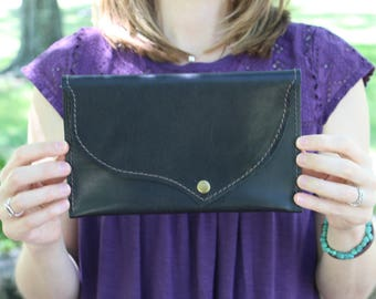Black Leather Clutch, Leather Clutch Bag, Leather Clutch Purse, Bridesmaid Clutch, Bridesmaid Gift, Leather Clutch, Clutch Leather