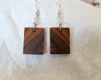 Bocote Dangle Earrings