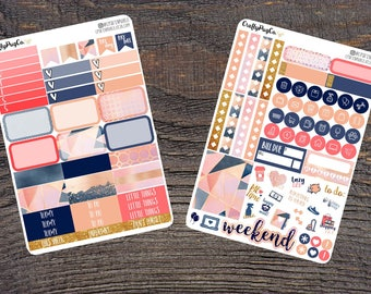 Beauty and Tranquility Weekly Planner Stickers Mini Kit for Vertical Erin Condren Life Planner