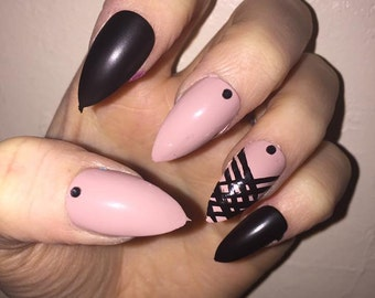 Fancy Stiletto Nails - Hand Made False Nails By Polished