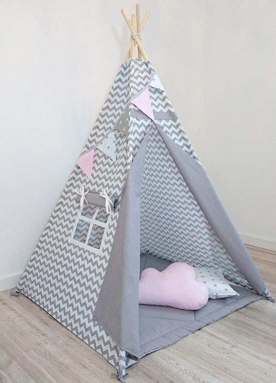 tipi kids tipi tipi voor kinderen childrens tipi grijze. Black Bedroom Furniture Sets. Home Design Ideas