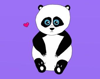 Panda, Digital Painting