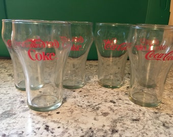 Set of 6 Coca Cola/coke glasses