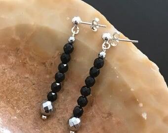 Onyx Hematite earrings