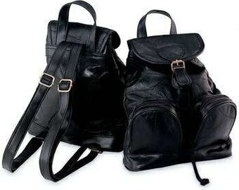 Genuine Leather Backpack Purse