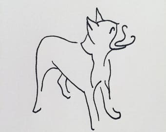 Boston Terrier Line Drawing