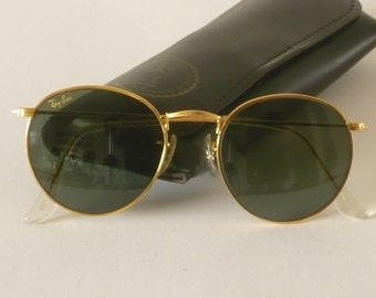 Vintage Ray Ban W0603 round Arista classic metals sunglasses by B & L