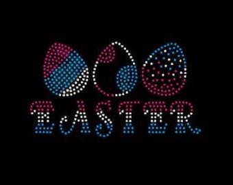 Easter Eggs Rhinestone Iron on Transfer                                                                      9YJ8