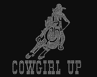Rhinestone Barrel Racing Cowgirl Bling Lightweight T-Shirt    or  Iron Transfer                                  GN66