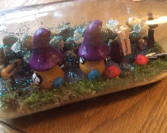 Fairy houses in a bottle