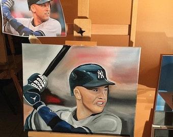 Derek jeter oil painting