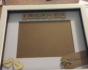 Personalised Engagement photo frame