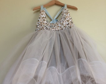 Custom tutu dress with beaded front