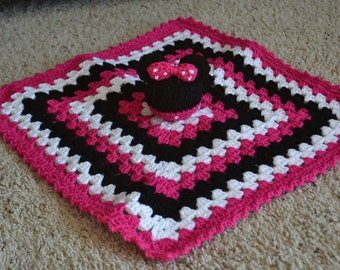 Minnie Mouse Inspired Lovey Blanket