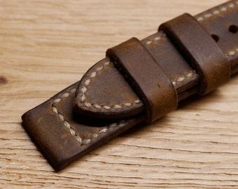 22mm vintage strap watch strap leather pilot's watch Aviator pilot watch leather strap