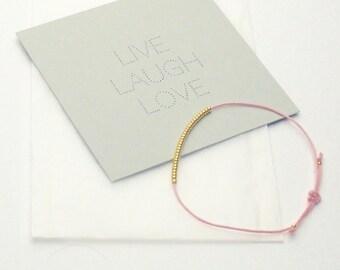 Bracelet - LIVE LAUGH LOVE - Rose