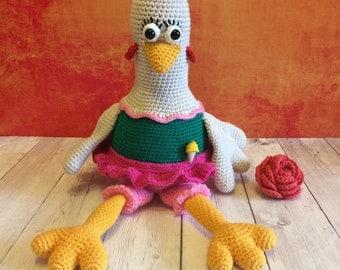 Crochet Easter Сhicken, knit chicken, crochet bird, crochet hen, knit hen, easter chicken, stuffed chicken, chicken toy, soft chicken, hen