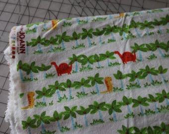 1 Dinosaur Flannel Fabric Soft Flannel Fabric 1
