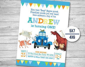 Little Blue Truck Invitation, Little Blue Truck Birthday, Truck Party, Little Blue Invite Printables, Card Invitations, Printable Invites