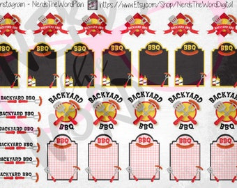 BBQ Cookout Planner Stickers