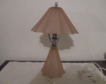 Extremely Rare Bagley 1930s Pink Glass Lamp
