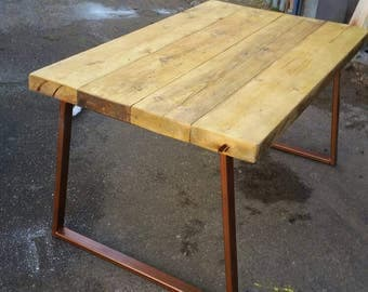 Industrial chic dining table