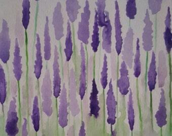 Lavender Fields - Watercolor