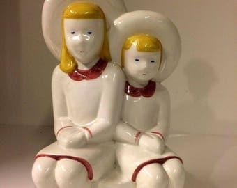 "Bassano ceramic table lamp-50-60 years-""TEENAGERS""-Vintage"