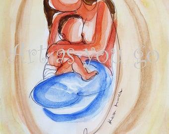 Postcard - Breastfeeding