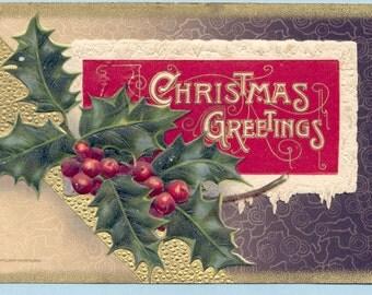 Vintage Christmas Postcard -No. 104