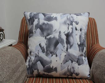 Horse Cushion Cover, Horse Pillow Cover, Horse Cushion, Horse Pillow, Horses, Housewarming Gift, Birthday Present