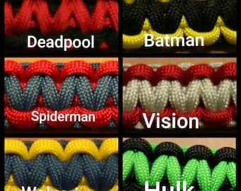 SUPERHERO Paracord Bracelets
