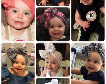 Harper Grace's Boutique Bows Baby Girl Headbands.