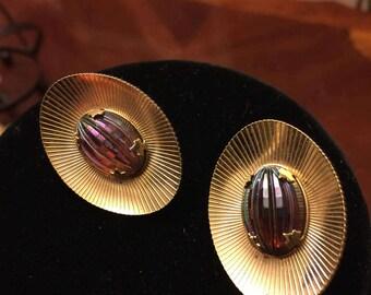Sarah  Cov 1950's  Vintage Clip on Earrings