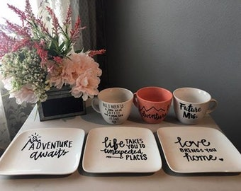 Personalized Plates and Cups